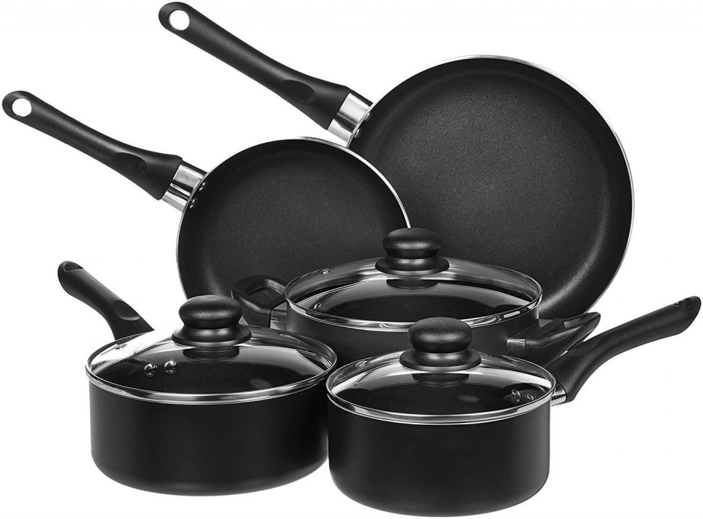 AmazonBasics 8-Piece Nonstick Cookware Set