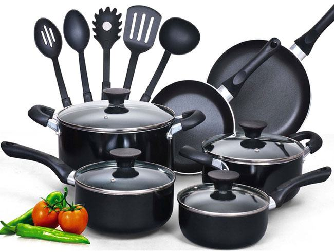 cook n home 15 piece nonstick cookware set reviews