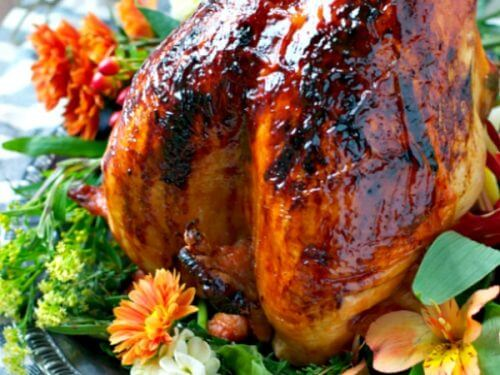 Maple Glazed Turkey Roast recipe with Gravy