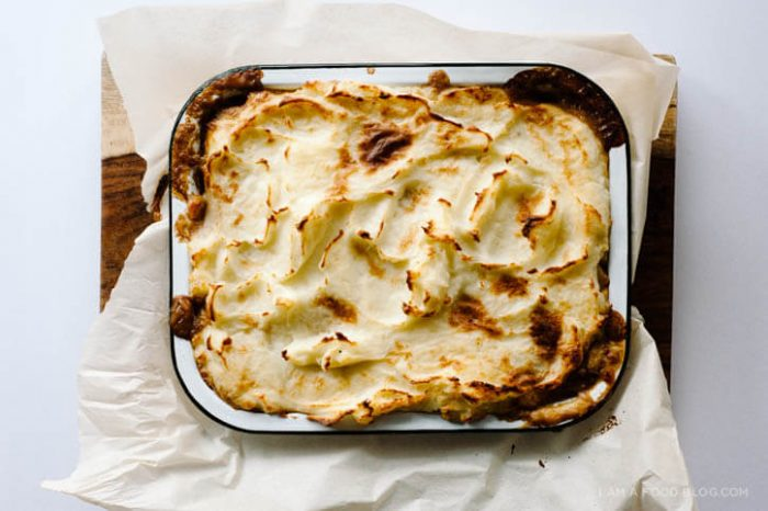 Mash-topped beef and Guinness pie