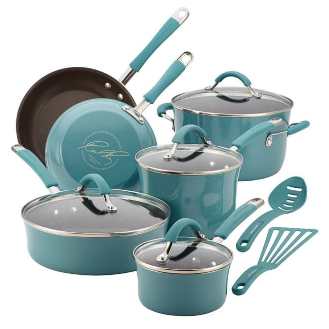 Rachael Ray Cucina Nonstick 12 Piece Cookware Set