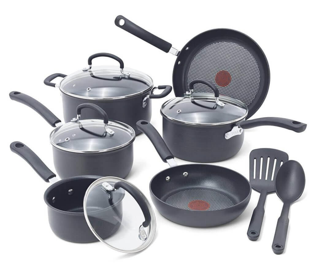 T-fal E765SC Ultimate Hard Anodized Titanium Nonstick Cookware Set