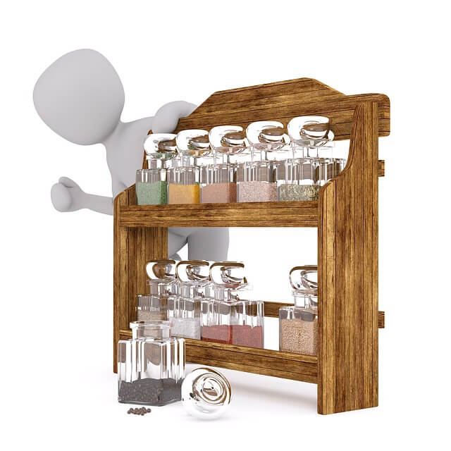 Wooden Kitchen Tools Rack