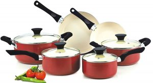 Cook N Home NC-00359 Ceramic Coating 10-Piece Cookware Set