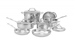 Cuisinart 77-11G Stainless 11-Piece Cookware Set