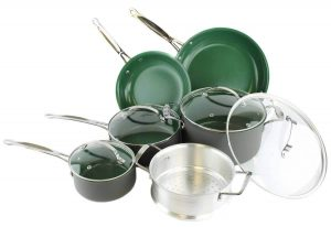 Orgreenic Ceramic Coated Cookware Set by BulbHead