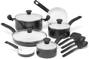 T-fal C996SE Initiatives Nonstick Ceramic Coating Cookware Set