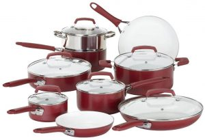 WearEver 2100087606 15 Piece Ceramic Cookware Set