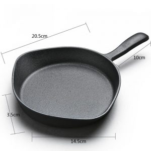 Vintage Uncoated Cast Iron Skillet Frying Pan